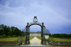 Chateau Montgeoffroy at Mazé, Loire Valley Stock Photos