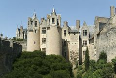 Chateau montreuil bellay. Loire valley france stock photography