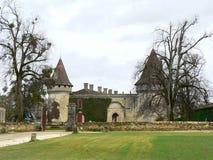 Chateau Mouchac, Grezillac (Frankrijk) Royalty-vrije Stock Afbeeldingen