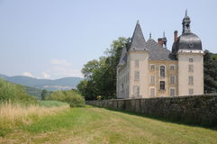 Chateau Neuf De Vertrieu. This is the newer castle in the small village of Vertrieu in France. The castle dates back to the 17th century Royalty Free Stock Photo