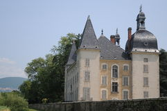 Chateau Neuf De Vertrieu. This is the newer castle in the small village of Vertrieu in France. The castle dates back to the 17th century Stock Photos