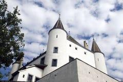 Chateau in Nyon, die Schweiz Stockbilder