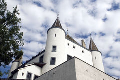 Chateau in Nyon, Zwitserland Stock Afbeeldingen