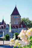 Chateau Ouchy Lausanne Arkivfoto