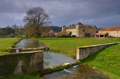 Chateau Ozenay in France Stock Photos