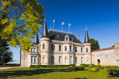 Chateau Palmer, Bordeaux, Face stock photo