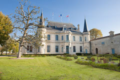 Chateau Palmer, Bordeaux. Chateau Palmer in Bordeaux, France on a sunny day in autumn stock image