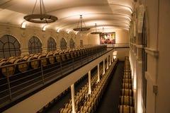 Chateau pavie wine making cellar, Saint Emilion,Bordeaux, France. Winery of Chateau pavie, right bank Saint Emilion, Bordeaux, France. Grand crus Classe A fine royalty free stock photos