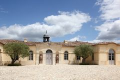 Chateau Petrus in Pomerol, France. Chateau Petrus in Pomerol in France royalty free stock image