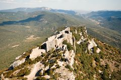 Chateau Peyrepertuse Royalty Free Stock Photography