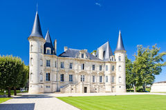 Chateau Pichon Longueville Royalty Free Stock Photos