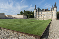 Chateau Pichon-Longueville with Lawn Pauillac Royalty Free Stock Photos