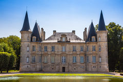 Chateau Pichon Longueville is one of the famous vine chateau in Royalty Free Stock Photos