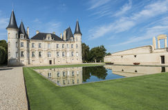 Chateau Pichon-Longueville with Pond Pauillac Royalty Free Stock Photo
