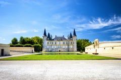 Chateau Pichon Longueville in region Medoc, Bordeaux - France stock image