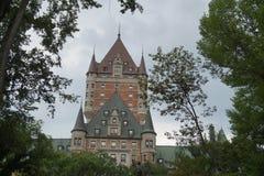 Chateau - Quebec City, Kanada arkivfoto