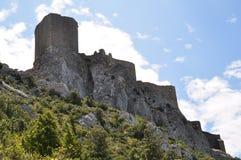 Chateau Queribus Royaltyfria Foton