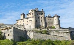 Chateau-Queyras stockfoto