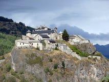 Chateau Queyras-Frankreich lizenzfreies stockfoto