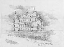 Chateau Rambouillet Royalty-vrije Stock Afbeeldingen