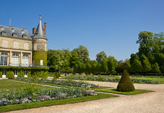 Chateau Rambouillet and his park Royalty Free Stock Photo