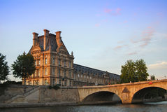 Louvre on the River Seine Royalty Free Stock Image