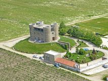 Chateau in Rose Valley, Bulgarije royalty-vrije stock afbeelding