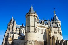 Chateau Saumur castle in Castle stock photos