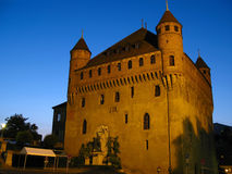 Chateau St-Maire, night 02, Lausanne, Switzerland stock photos