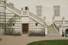 Chateau staircase,  Mnisek, Czech Republic Royalty Free Stock Photo