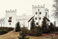 Chateau Strazky, Slovak republic, old filter. Beautiful chateau Strazky, Slovak republic. Cultural heritage. Architectural theme. Old photo filter royalty free stock images