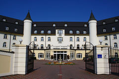 Chateau style hotel Royalty Free Stock Photography