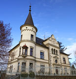 Chateau style house. Decorated chateau style house. Tabor. Czech Republic stock photo