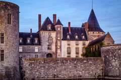 Chateau of Sully-sur-Loire in the evening, France Stock Photo