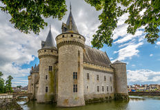 Chateau of Sully sur Loire Stock Photo