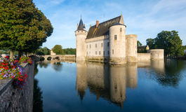 The chateau of Sully-sur-Loire, France Royalty Free Stock Photos