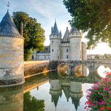 The chateau of Sully-sur-Loire, France. This castle is located in the Loire Valley, dates from the 14th century and is a prime example of medieval fortress Royalty Free Stock Photo