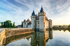 The chateau of Sully-sur-Loire, France. This castle is located in the Loire Valley, dates from the 14th century and is a prime example of medieval fortress Royalty Free Stock Image