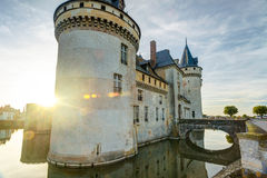 The chateau of Sully-sur-Loire at sunset, France Stock Image