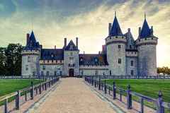 The chateau of Sully-sur-Loire at sunset, France. Stock Photography