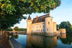 The chateau of Sully-sur-Loire at sunset, France Stock Images