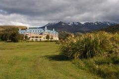 Chateau Tongariro. In Tongariro National Park, New Zealand royalty free stock photo