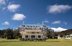 Chateau Tongariro in Tongariro National Park. Manawatu-Wanganui, New Zealand Royalty Free Stock Image
