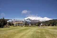 Chateau Tongariro in Tongariro National Park. Manawatu-Wanganui, New Zealand Stock Images