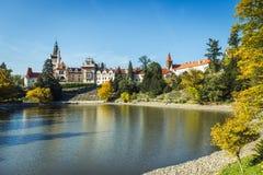 Chateau und Park Pruhonice in der Tschechischen Republik stockfotos