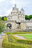 Chateau Ussé Garden. Loire Valley, France royalty free stock photography