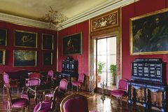 Chateau Valtice, Lednice-Valtice Cultural Landscape is World Heritage Site UNESCO, one of the most impressive baroque Royalty Free Stock Photos