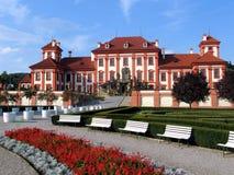 Chateau van Troja Royalty-vrije Stock Foto
