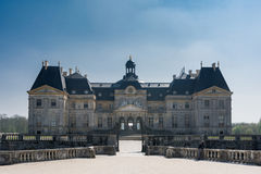 Chateau of Vaux le Vicomte. North Facade of the Castle of Vaux le Vicomte in France Stock Image