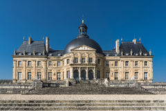 Chateau of Vaux le Vicomte. South Facade of the Castle of Vaux le Vicomte in France Royalty Free Stock Image